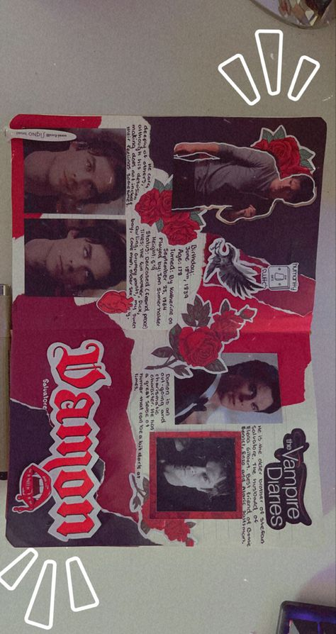 Damon Salvatore scrapbook page