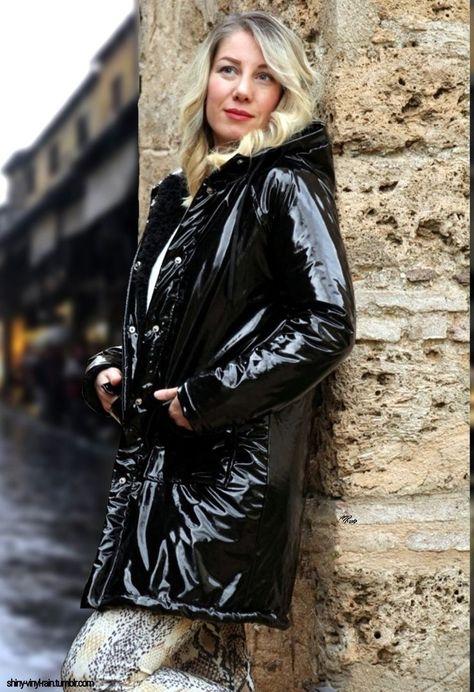 Vinyl rain jacket black  #black #jacket #vinyl