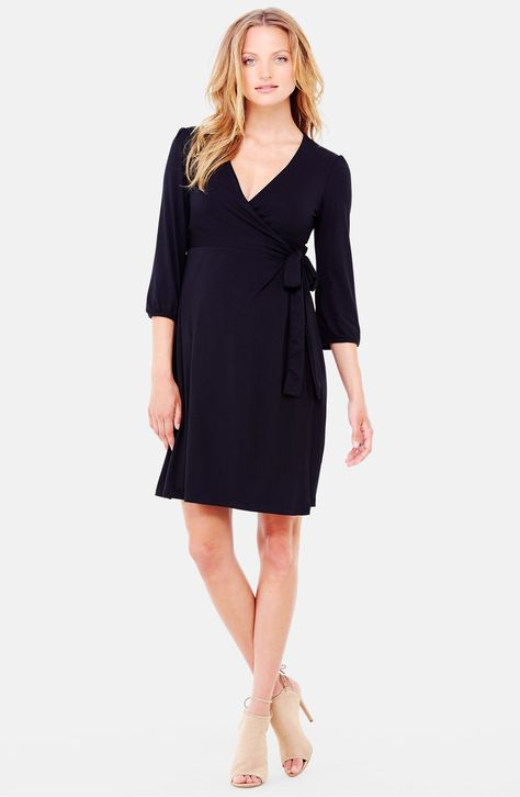 a3372f94a0935 $88 Ingrid & Isabel® Nursing Friendly Maternity Wrap Dress | Mom Bod ...
