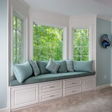 Add A Cushions And Throw Pillows To The Bay Window In The Family Room?love  The Idea Of A Bay Window Seating Area .