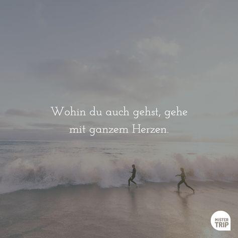 Wohin du auch gehst, gehe mit ganzem Herzen.  (via Facebook - Mister Trip Reisen)  #zitat #zitate #spruch #sprüche #sprichwörter #worte #wahreworte #schöneworte