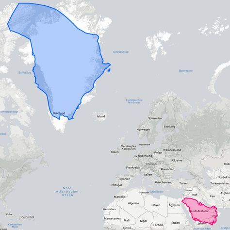 Greenland And Saudi Arabia Swapped Maps Map Cartography