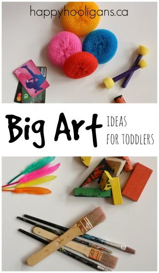 Big Art Ideas for Toddlers - lots of painting activities for toddlers