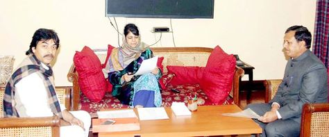 Mla Bani Jewan Lal During A Meeting With Chief Minister Mehbooba