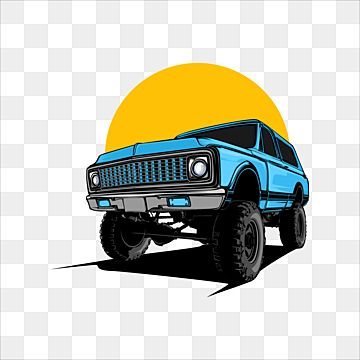 Classic Offroad Jeep Car Illustration With Solid Color Design Offroad Jeep Transport Png And Vector With Transparent Background For Free Download Muscle Car Todoterreno Automoviles