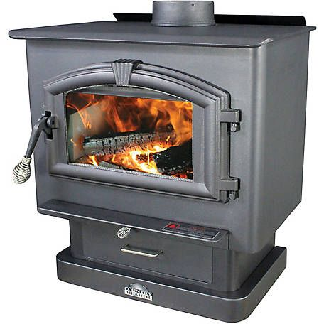 Us Stove Pedestal Wood Stove With Blower 2 000 Sq Ft 2000 At Tractor Supply Co Wood Stove Wood Burning Stove Stove