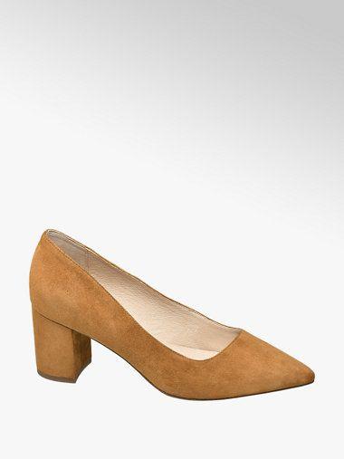 Zamszowe Czolenka Damskie 5th Avenue Na Slupku Deichmann Com Heels Shoes Mule Shoe
