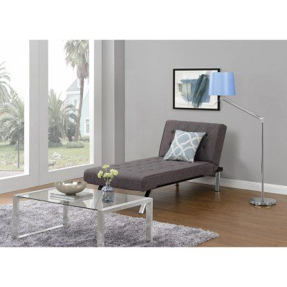 Dhp Emily Upholstered Chaise Lounge Indoor Chaise