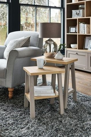 Set Of 2 Malvern Nest Of Tables In 2020 Table Furniture Home