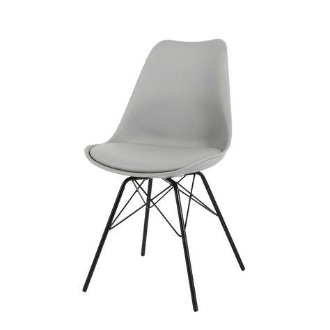 Sedia grigia in polipropilene e metallo Coventry | Maisons du Monde