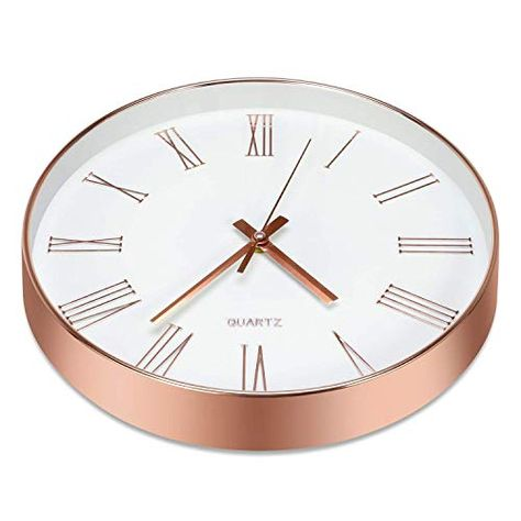 10 Best Copper Rose Gold Wall Clocks Today Gold Wall Clock Clock Gold Walls