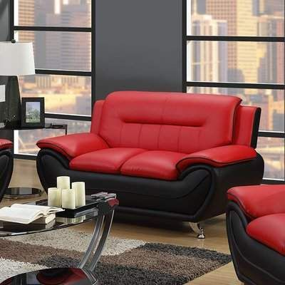 Pin On Santos, Red Leather Sofa And Loveseat Set