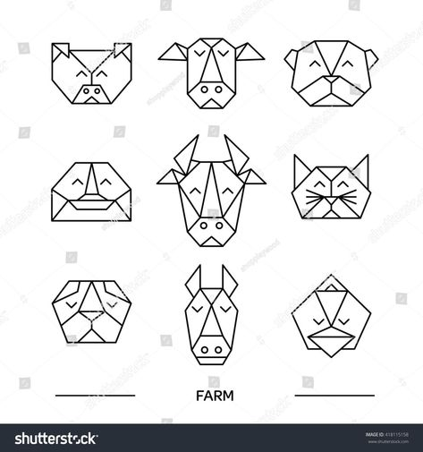Photo of geometrische tattoos tiere