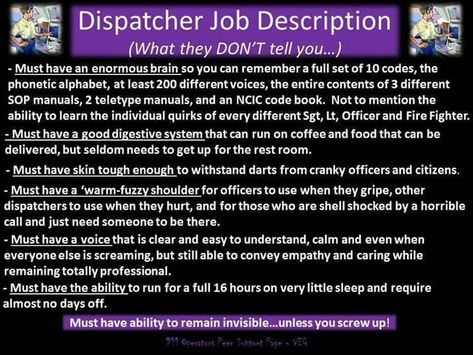 You may know where you are God may know where you are But if - dispatch operator sample resume
