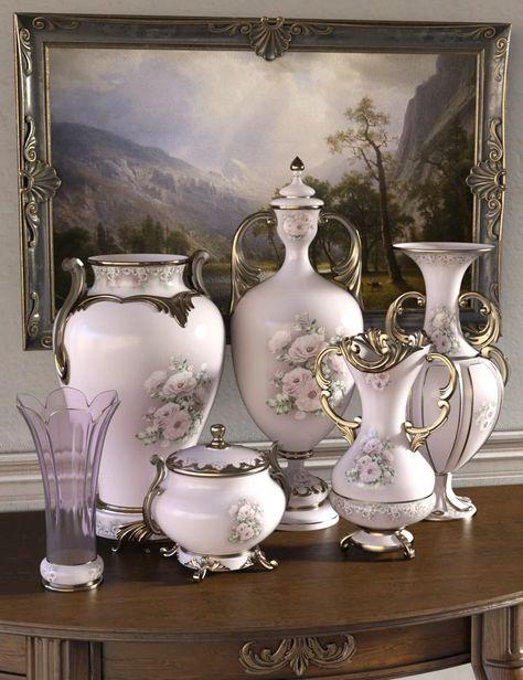 Florals for Rococo Vases Iray - DAZ 3D Models - 3D CG