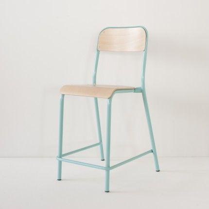 Chaise D Ecole Haute Turquoise Chaise Ecole Chaise Et