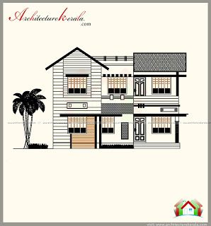 1700 Square Feet House Plan In Contemporary Model Elevation Architecture Kerala House Plans Simple House Plans 1700 Sq Ft House Plans