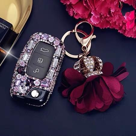 Ford Bling Car Key Fob Holder With Rhinestones For Focus Max