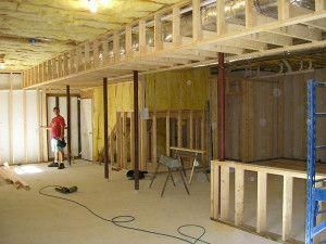 How To Frame Around The Duct Work In Basements Remodelbasement Framing Basement Walls Basement Ceiling Framing A Basement