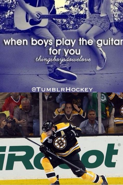 Patrice Bergeron, hockey meme. When boys play the guitar for