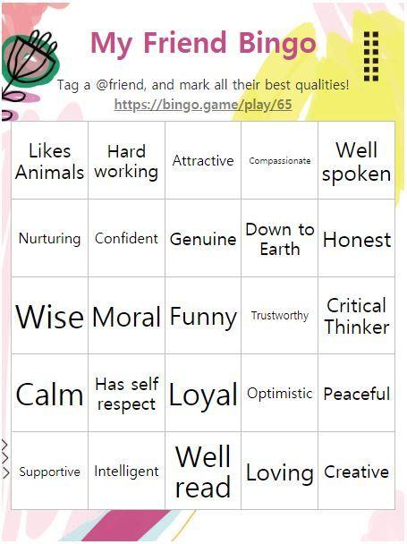 My Friend Friend Bingo Bingo Optimistic