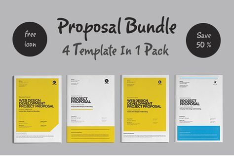 Proposal Bundle Template by fahmie on Creative Market Graphic - graphic design proposal example
