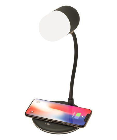 Ewonder Black Fast Charging L4 Bt Wireless Charger Lamp Speaker Zulily In 2020 Wireless Charger Lamp Wireless