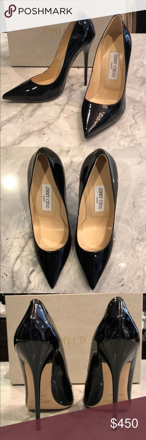 318e76f3625 Jimmy Choo Anouk Black Patent Pump Brand new. Comes with box and dust bag.