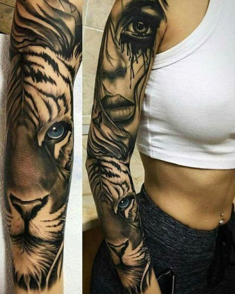 Best Stunning 💕 Full and Half Sleeve Tattoos Ideas for Women 2019 – Page 25 of 67 – Diaror Diary - Braço Preenchido Tatuagem