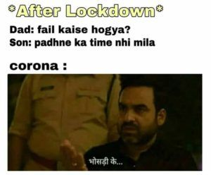 When Student Fails In Exam After Lockdown Very Funny Memes Really Funny Memes Funny School Memes