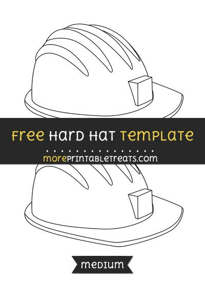 Free Hard Hat Template Medium Hat Template