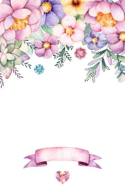 Hermosa acuarela tarjeta para texto - ilustración de arte vectorial