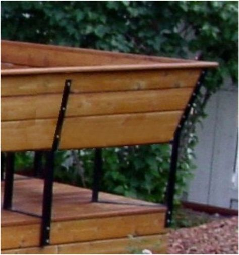 Bench Bracket Set SPECIFY COLOR (4 brackets) Bench, Steel and Decking - fresh blueprint for building a bench