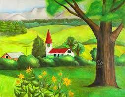 Image Result For Dibujos De Solo Paisajes Bosques A Lapiz Paso A Paso Faciles En Imagenes Landscape Drawings Drawings Painting