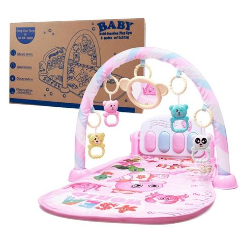 Musical Baby Activity Gym / Play Mat - Pink