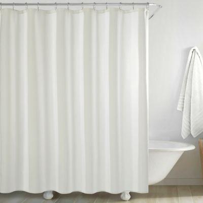 Jana Shower Curtain In White Curtains Shower Curtain White