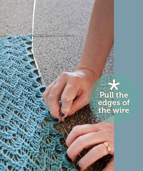 Learn How to Use Blocking Wires and Make Your Shawl Points Pointy!