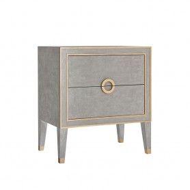 1 675 Retro Nightstand Antique Grey Classic Furniture Design