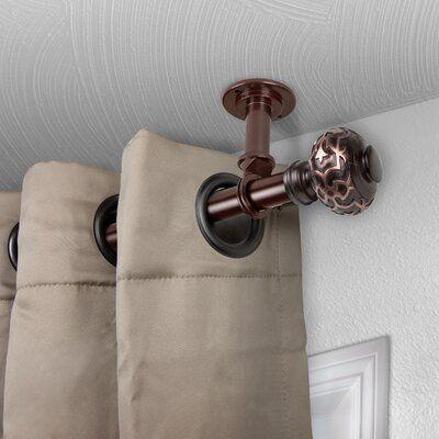 Fleur De Lis Living Talley Single Curtain Rod Size 48 84 L