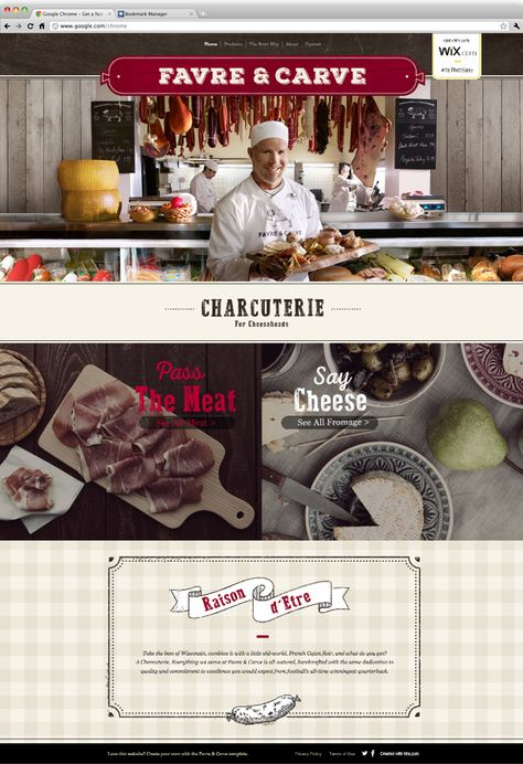 Football Legend Brett Favre opened his own Charcuterie. Check out his beautiful Wix Website he created to support his new business. #ItsThatEasy