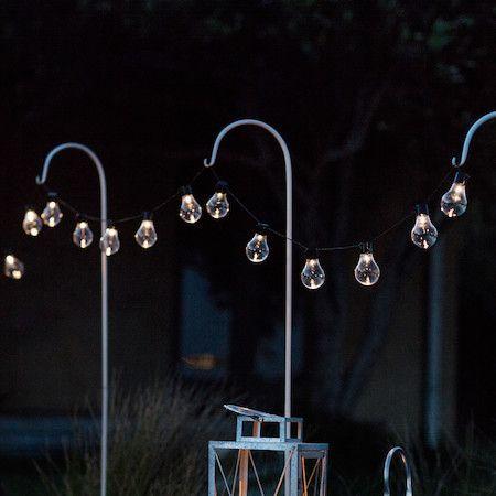 Outdoor Lighting Solar 20 Warm White Carnival Plug In Festoon Lights Festoon Lighting Garden Solar Lights Garden