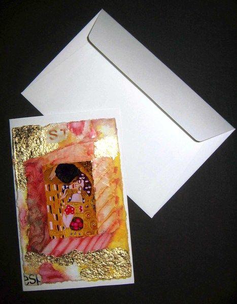 Partecipazioni Matrimonio Klimt.Partecipazioni Matrimonio Il Bacio Di Gustav Klimt Di Karinna Su