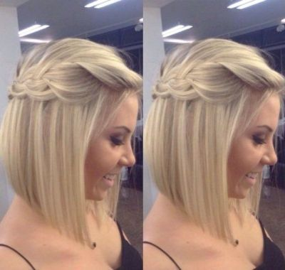 Wedding Hairstyles Medium Length Straight Hair Hair Styles Short Hair Styles Braids For Short Hair