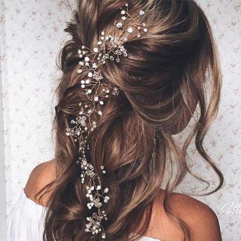 Crystal Pearl Wedding Bridal Hair Ornaments Headbands
