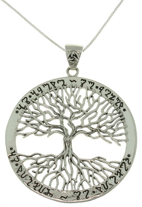 """Sterling Silver Tree of Life Pendant with 18/"""" Chain /& Box"""