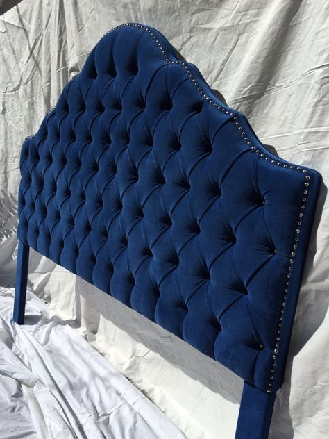 superior quality 6b4ca e4540 Royal Blue Extra Tall King Size Tufted Headboard by ...