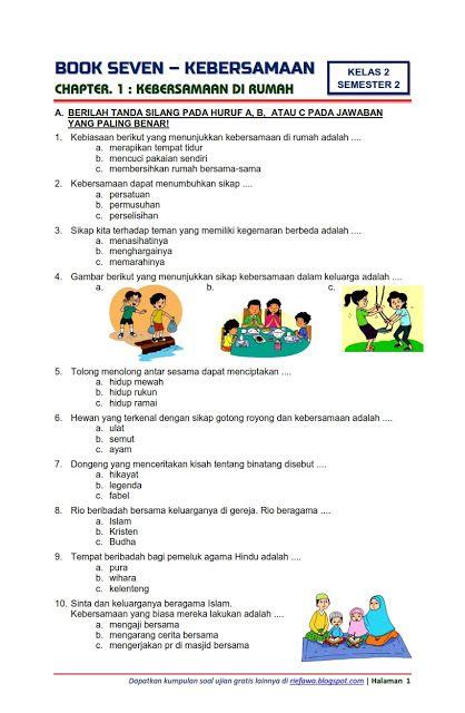 Download Soal Tematik Kelas 2 Semester 2 Tema 7 Subtema 1 Kebersamaan Kebersamaan Di Rumah Edisi Terbaru Downl Basic Math Microsoft Office Word Word 2007