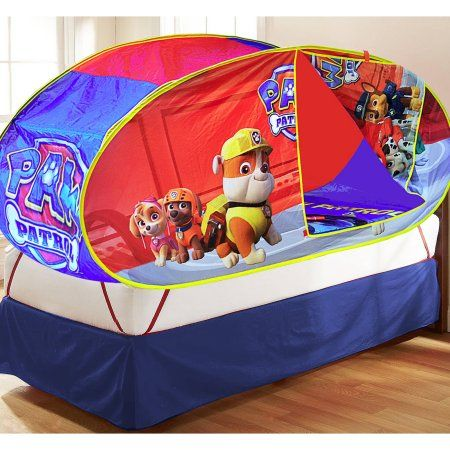 Nickelodeon Paw Patrol Sleepover Set With Bonus Bed Tent Red