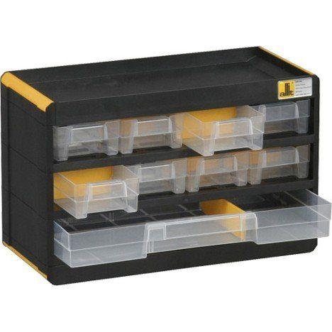 Casier A Vis Plastique 9 Tiroirs H 19 X L 30 X P 13 5 Cm Casier Rangement Casier Rangement
