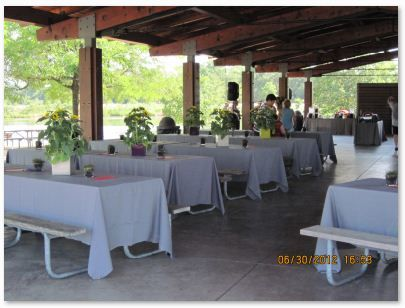 Superior Outdoor Reception Pavilion Cocktail Tables   Google Search   Ideas    Pinterest   Pretty Patterns, Picnic Tables And Brown Paper